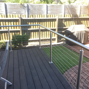 Satin Outdoor Stainless Steel 304 Cable Wire Railing System Balustrade