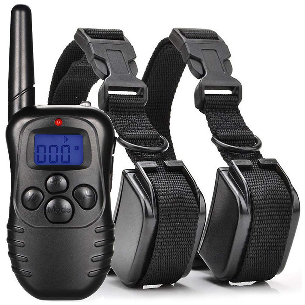 Dog Training Collar with Remote Rechargeable and Waterproof E-Collar Pet Bark 300 Meters (328 yards/984 ft.)