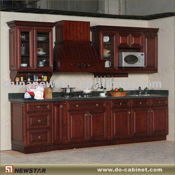 Kayu solid antik lemari dapur lemari dapur id produk for Disenos de gabinetes de cocina en madera