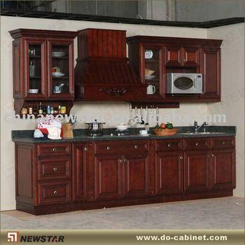 Solid wooden antique kitchen cabinets buy antique for Disenos de muebles para cocina en madera