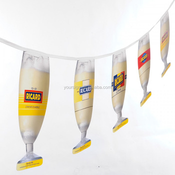 Beer Promotional Items Advertising Shape Custom Mini Flags Bunting - Buy  Custom Mini Flags,Beer Advertising,Beer Promotional Items Product on