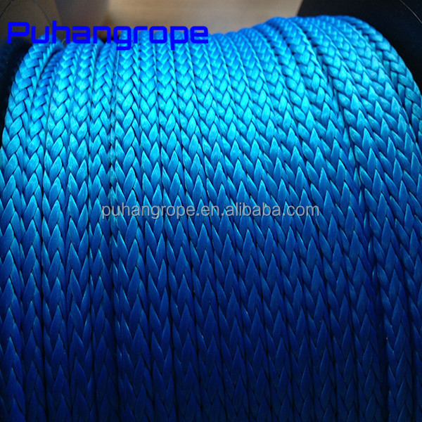 12 Strand fiber PP rope polyester nylon uhmwpe rope yacht mooring rope
