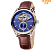 EYKI EFL7003L Men Top Brand Luxury Watches Genuine Leather Watches Men Mechanical Watch Casual Wristwatches