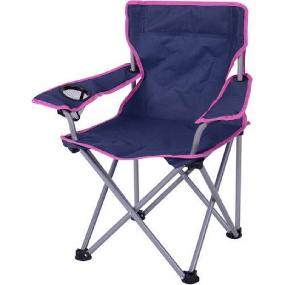 Ozark Trail Kids' Folding Camp Chair, Purple/Pink