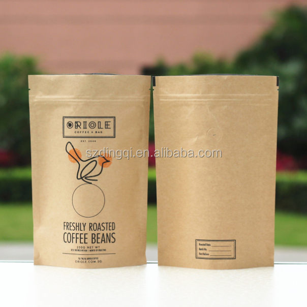 Kraft Paper Bags Set Of 100 Small Ziplock Stand Up Coffee