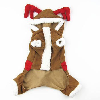 Christmas Warm dog clothes with elk shape coat