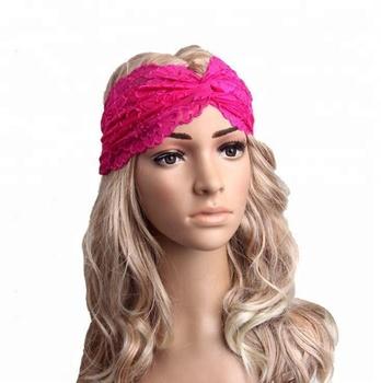 New Design Godbead Black Turban Headband Cotton Spandex Workout Hair Bands   Women s Fashion Hair Band 8a36c1a7f5f