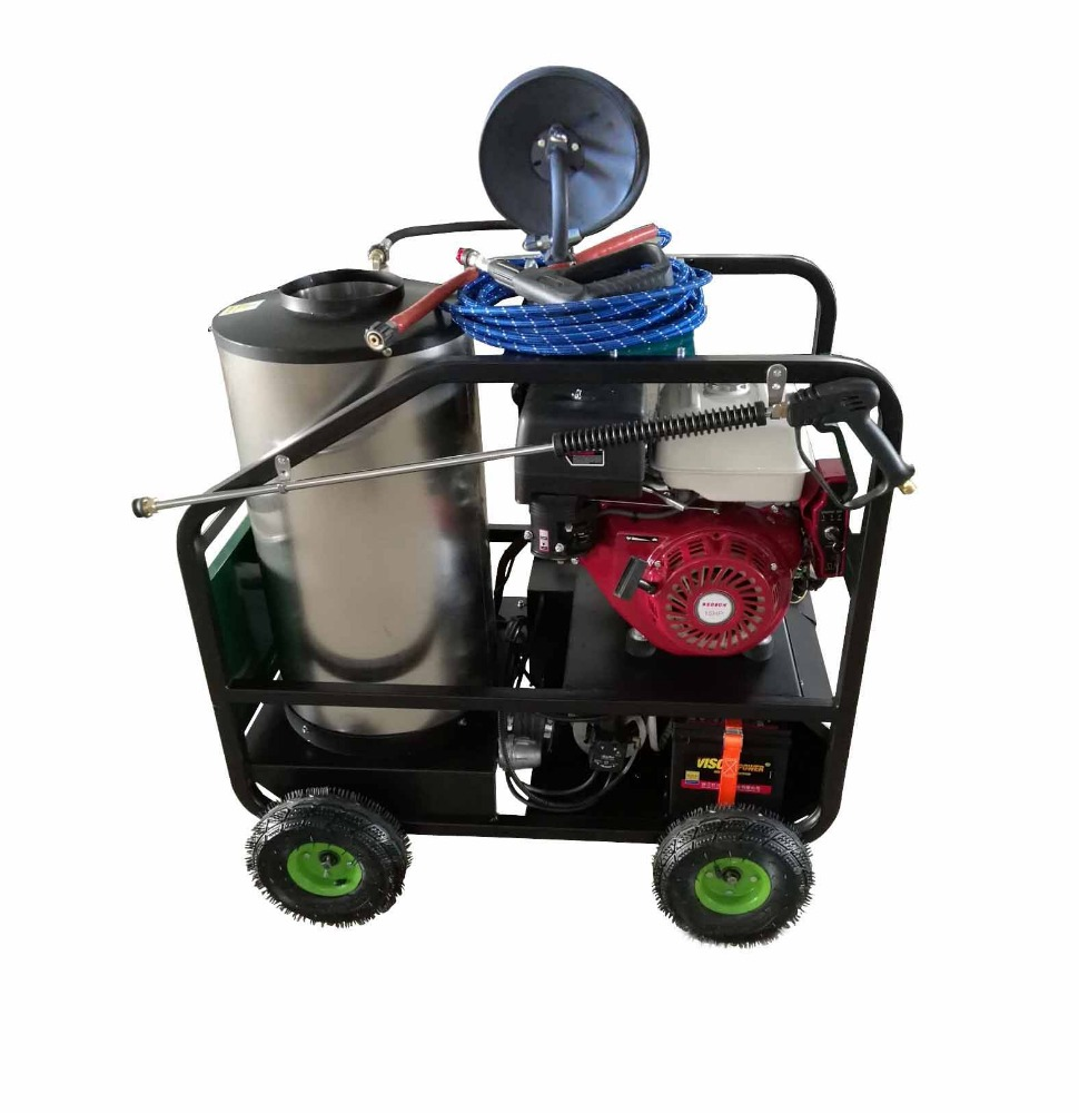 gas power portable pressure washer with heater