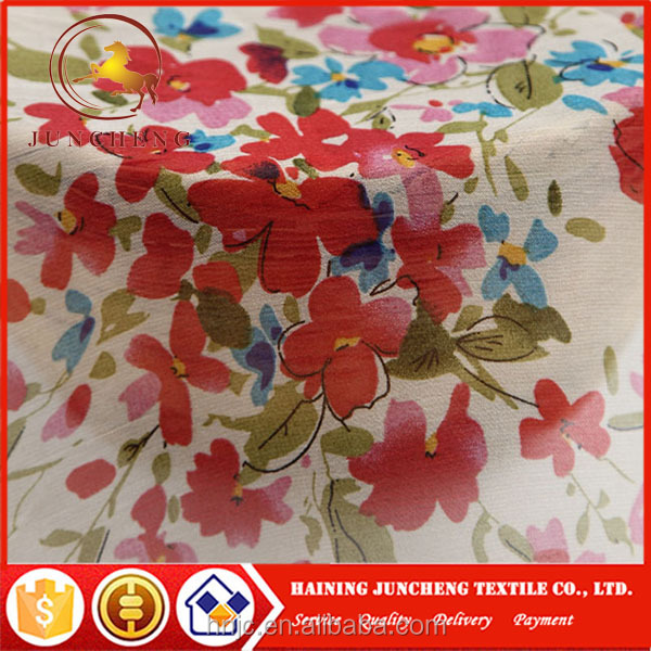 Chinese designer fashion original sheer floral chiffon dress fabric for summer