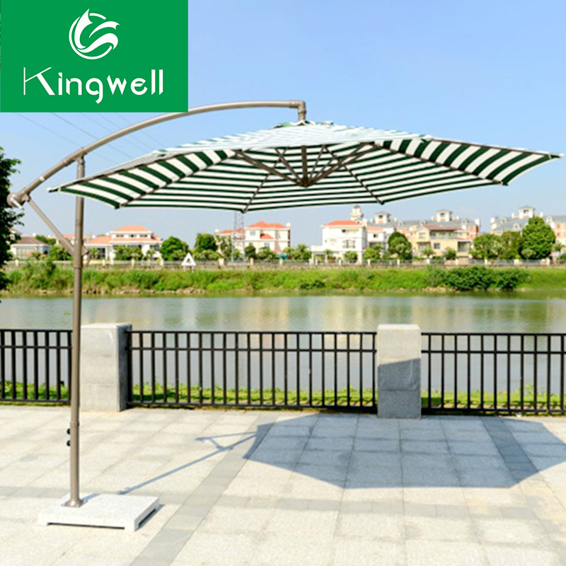 Outdoor patio round umbrella big parasol folding big parasol with base stand