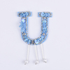 Yongze wholesale sequin letter u bead tassel china embroidery custom patches iron on