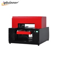 JETVINNER 2019 Cheapest A3 UV Flatbed Printer 8 Colors For Phone Case Printing Machine For Epson DX5 Printhead