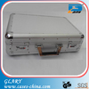 Silver carrying aluminum laptop case / briefcase
