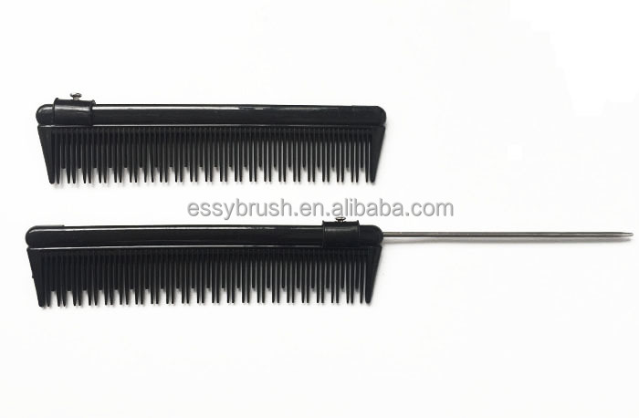 professional hair tail comb removable metal comb