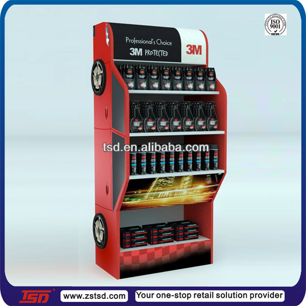 TSD-W420 wood display shelf for Lubricating oil/wholesales lubricant oil rack/lubricant exhibition display