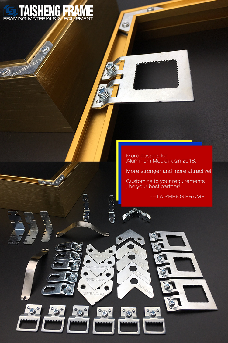 TS-K115 en alliage d'aluminium moulures Euro Style Cintres Double Plaque vissée cintre fangle Européenne cintre pack hardware