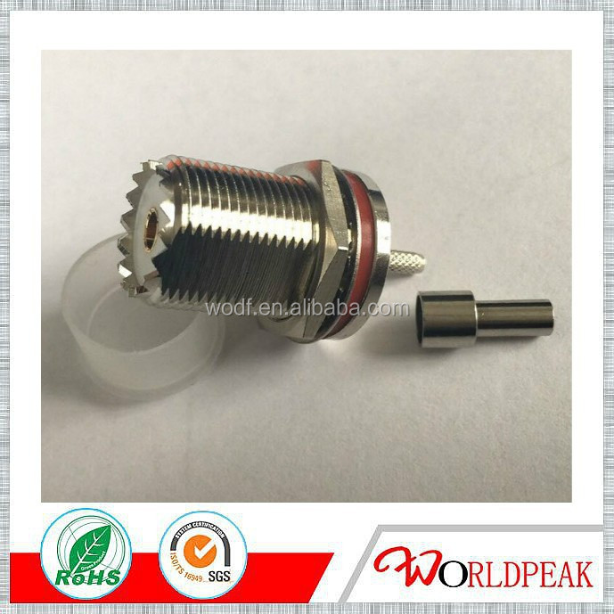 Bulkhead PL259 UHF connector for rg316 rg174 lmr100 cable