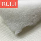 polyester white faux fur fabric for garments and seat covers