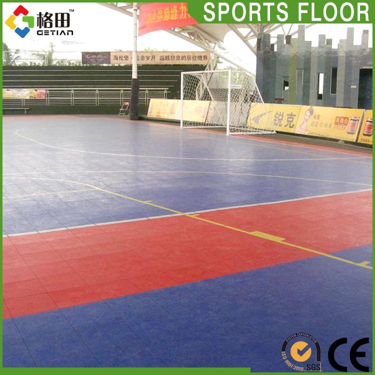 Flexível preço pp bloqueio interior modular de bloqueio de plástico de campo de futebol quadra de futsal de futebol, futsal piso playground preço