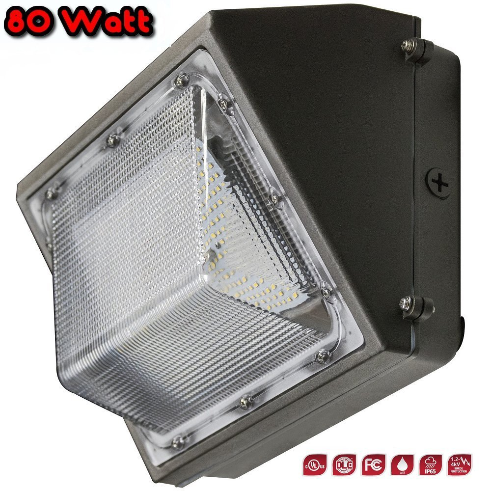 80 Watt - LED Traditional Wall Pack Area Light - 3000 Kelvin - 9,768 Lumens - DLC & cULus Listed - 5 Yr Warranty - Energy Efficient - Reduce Costs - Perfect for perimeter and area lighting