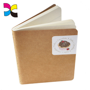 Customized sewing binding mini kraft cover notebook
