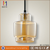 Price for modern amber glass chandelier G9 pendant light with CE Rohs