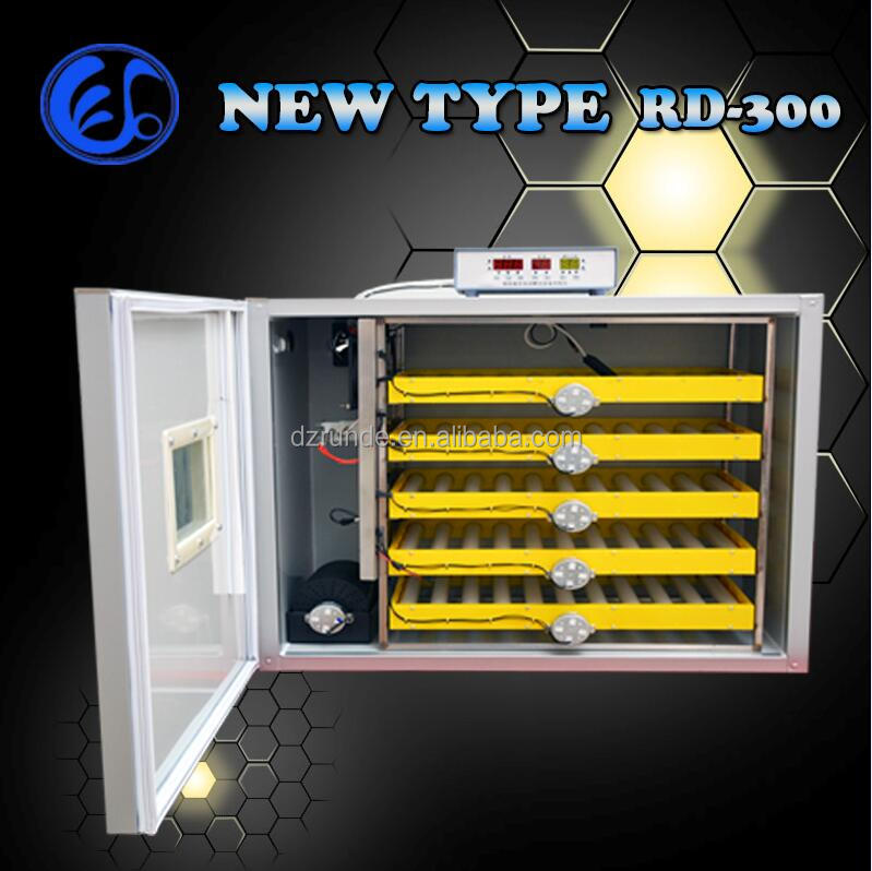 New Roller type full automatic 300pcs chicken egg incubator for sale