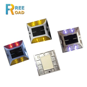 4 LED double sides reflector Solar powered road studs/solar cat eyes