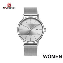Парные часы NAVIFORCE, мужские часы, простые Роскошные Кварцевые наручные часы, женские часы для мужчин и женщин, водонепроницаемые тонкие часы ...(China)