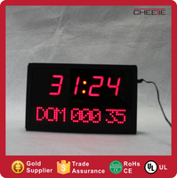 3D Red LED Table Clock Desktop Portable Wall Digital Timer