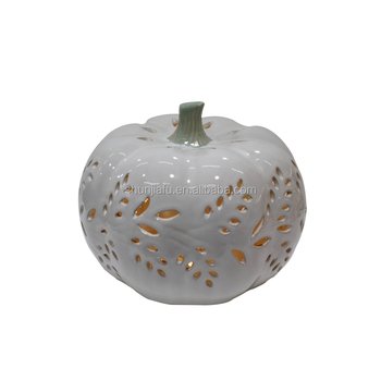 Customized Wholesale Halloween Decoration Figurine Ceramic Pumpkin Lantern