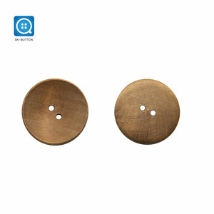 30MM 48L 2 Holes Custom Laser Engraved Big Winter coat Sweater Overcoat Wooden Buttons