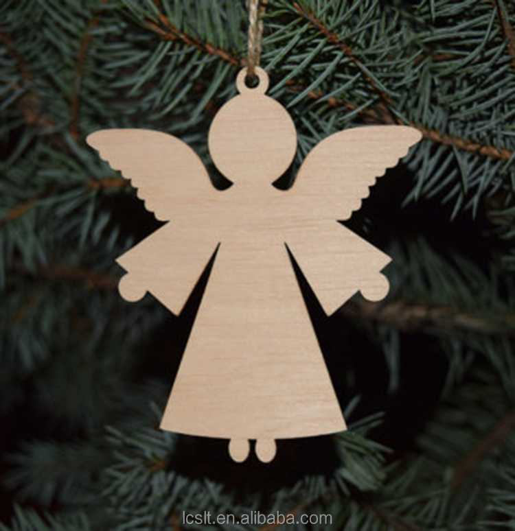 wholesale unfinished home decoration wooden Christmas angel
