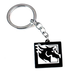 Promotion custom black plated metal enamel funny keychain with own logo