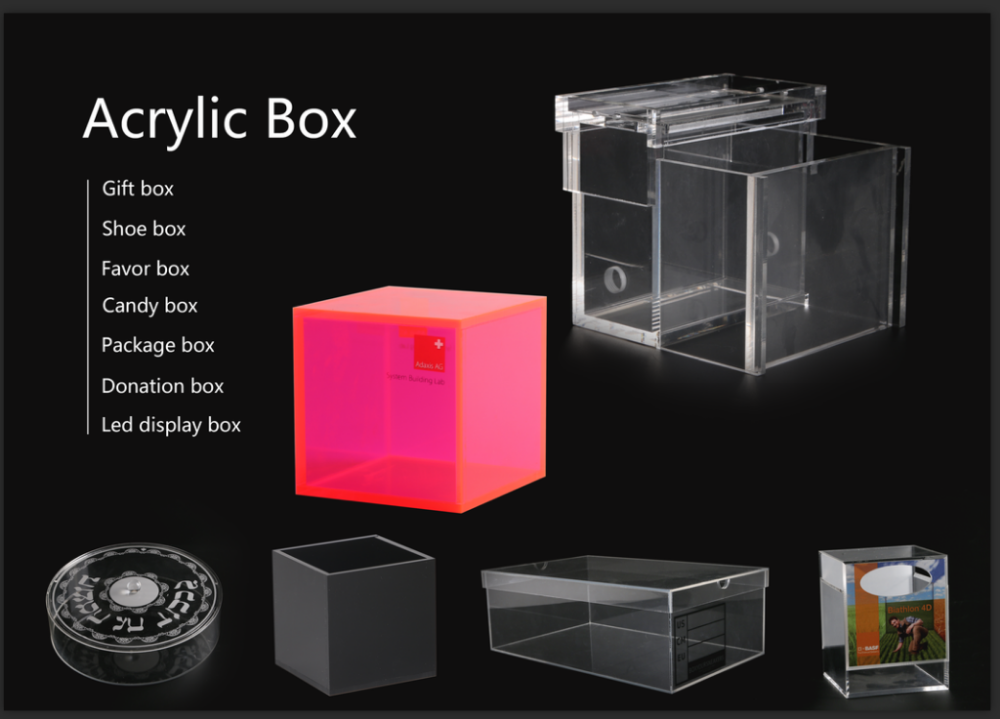 Custom different shape size clear acrylic box from china for How to acrylic