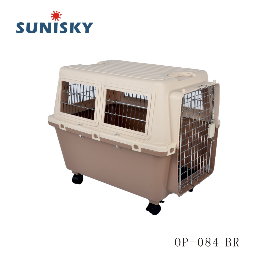 Large dog cage with wheels Pet Carrier Airline Approved Pet Travel and outdoors OP-084 BR