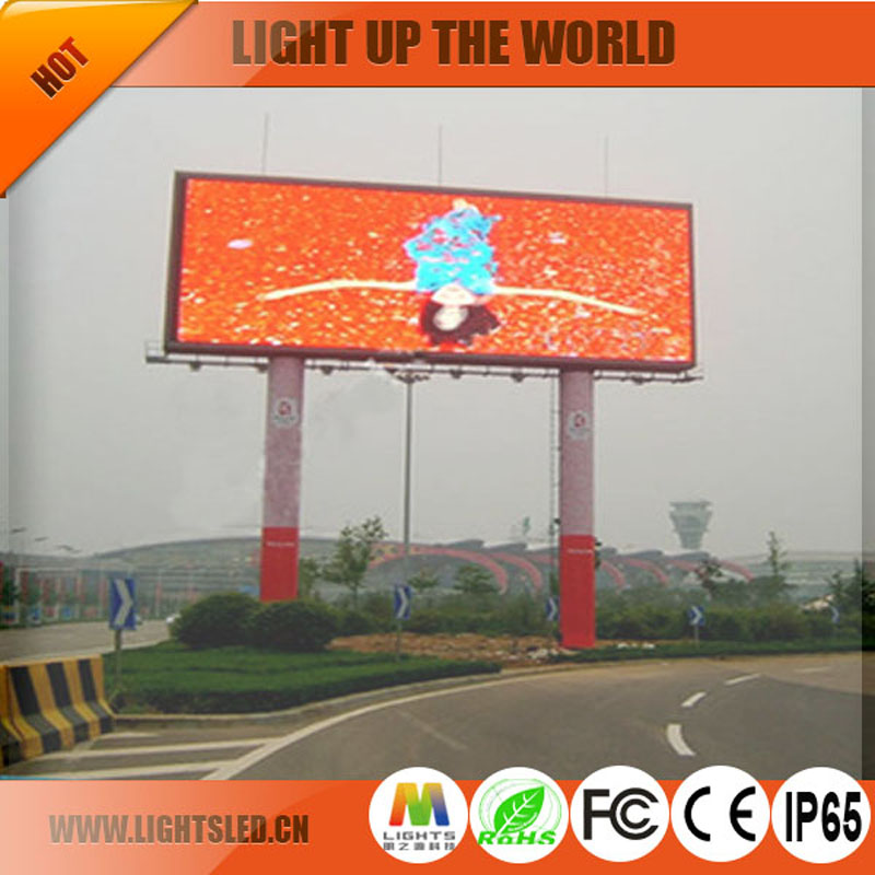 Large Stadium outdoor p8 led panel screen displays solar power advertising display