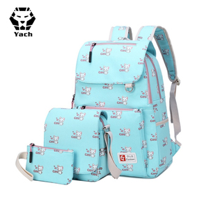 Children custom animal school baby large duffle canvas laptop travel oem set waterproof magic kids hiking travelling backpack