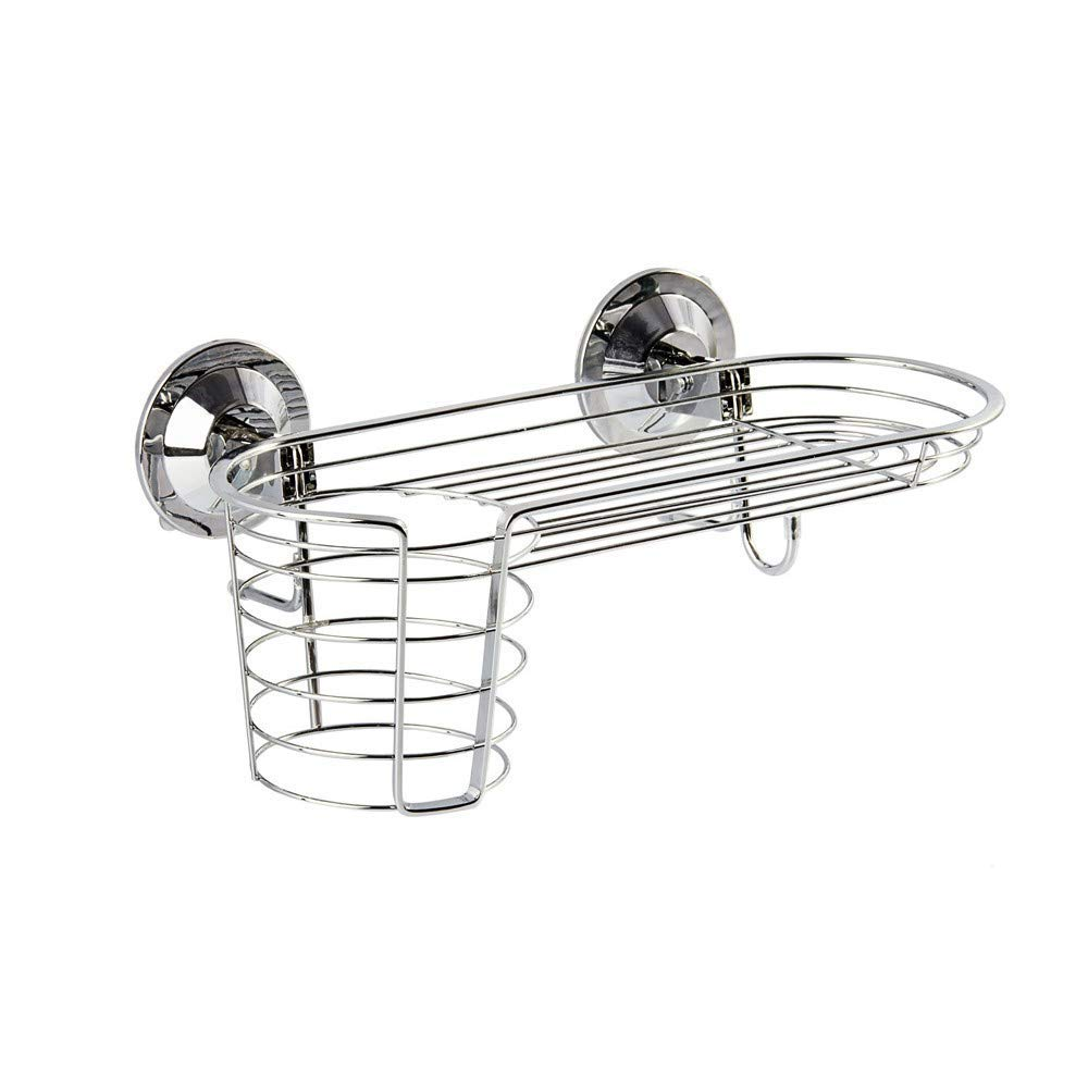 Household goods hair dryer rack seamless suction cup stainless steel air tube storage rack
