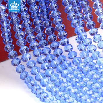 High quality crystal strands glass rondelle beads for clothing decoration
