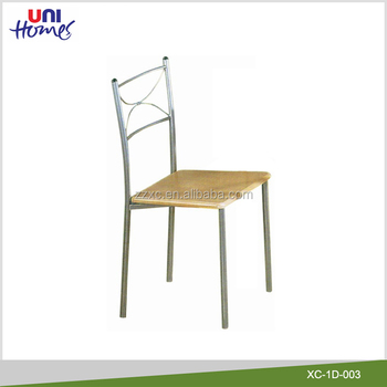 Metal Dining Chairs With Wooden Seat