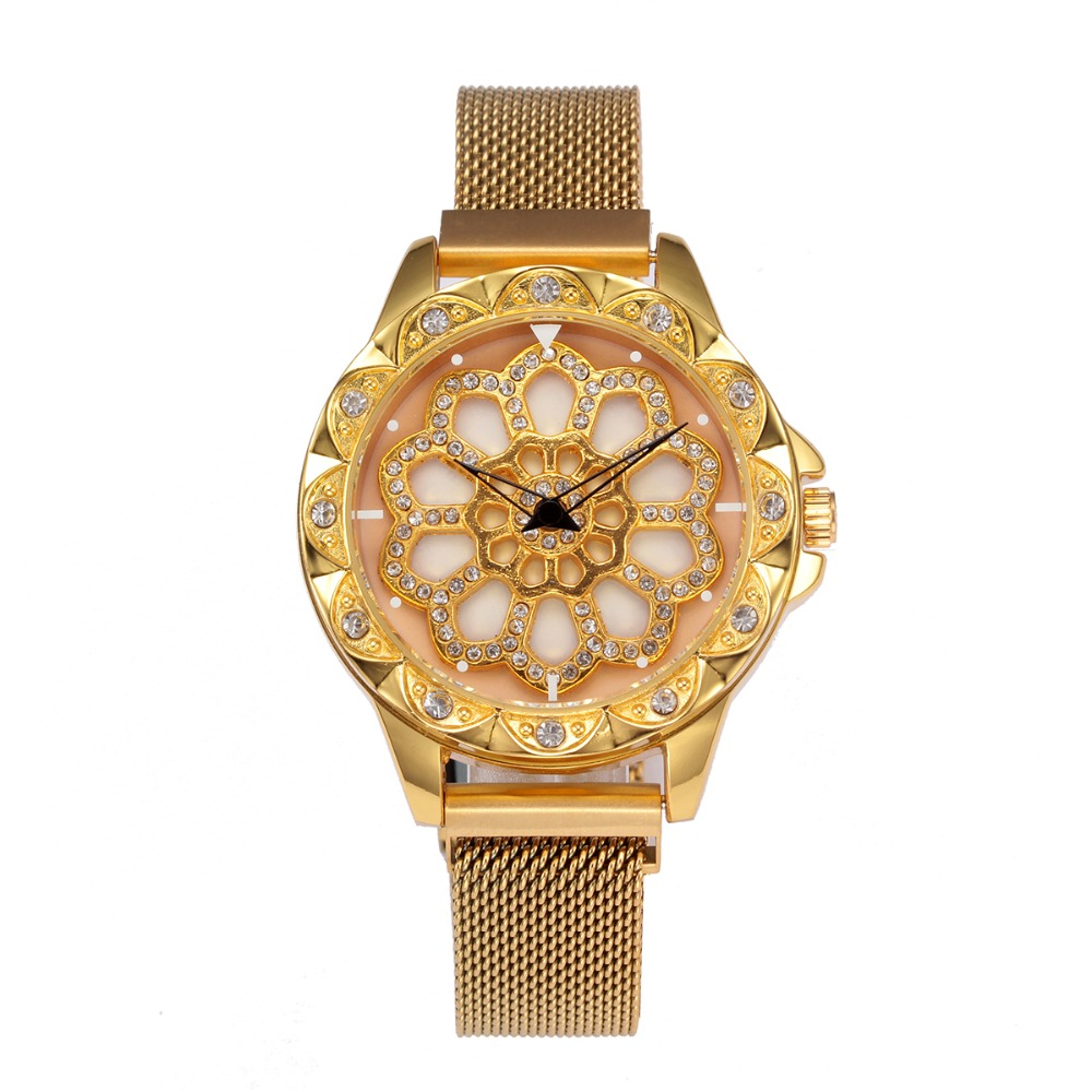hot sell 2019 summer women's fashion rotating dial watch Luxury Women Rotation Watch Fashion Design Female Wristwatches