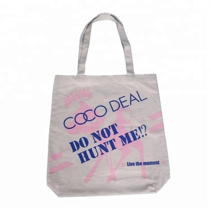 Wholesale cotton canvas beach tote bag with customised print