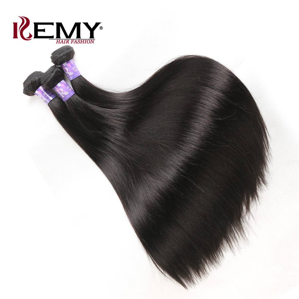 RUIMUI Raw Cuticle aligned virgin 00% cambodian human hair extensions straight 100 Percent Indian Remy Human mink Virgin Hair, Natural