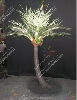 Decorative Coconut Tree With Lighting Outdoor Lighted Trees