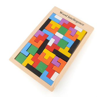 Children Wooden Puzzles Toy Tangram Brain Teaser Puzzle Toys Tetris Game  Educational Kid Jigsaw Board Toy Gifts - Buy Wood Puzzle,Kid Toy