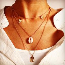 Женское винтажное многослойное ожерелье IF ME, ожерелье с подвеской в стиле бохо, золотистое Длинное колье с монетницей, ювелирные изделия дл...(Китай)