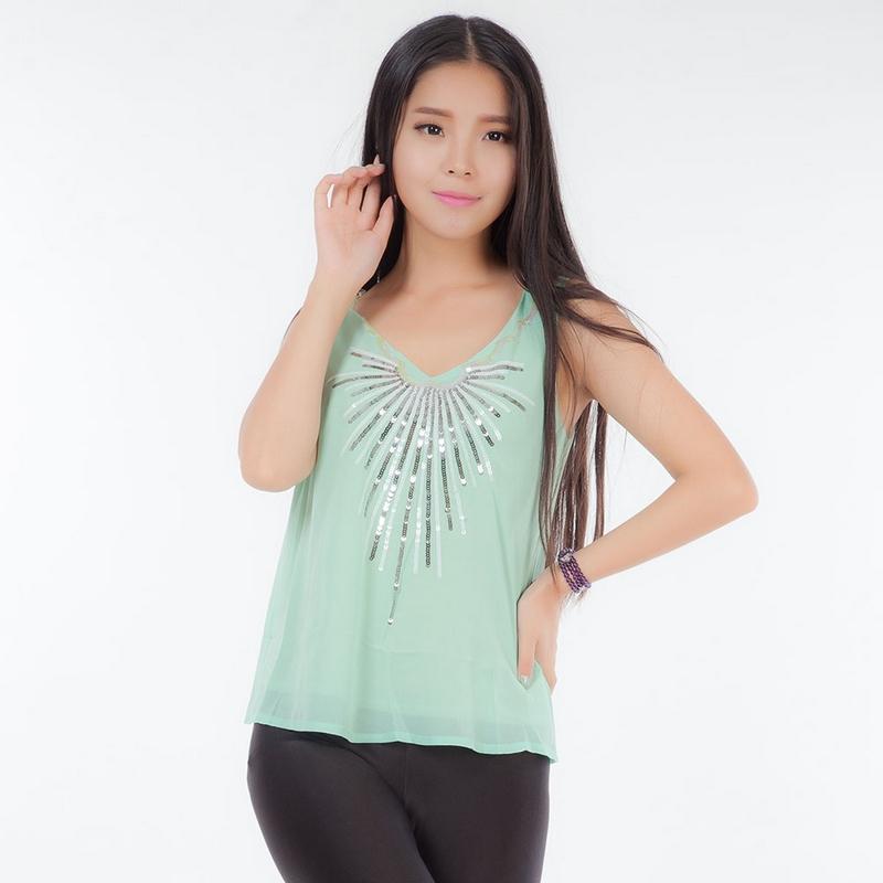 c0c1d2e4c878e3 Get Quotations · Sequin vest 2015 Summer Sexy Women s Sequin Tank Top Sling  Camisole Cami Vest T-Shirt
