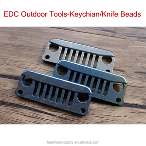 Wholesale Titanium Alloy Jeep Wrangler EDC To Play Pieces Of Key Pendant Accessories EDC Multi Tools Factory Selling Knife Beads