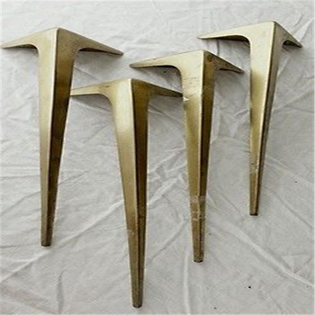 Professional Indoor Metal Furniture Feet, U Table Leg, Brass Table Base